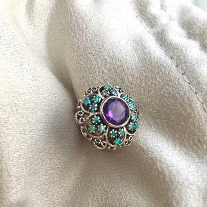 🐲 vintage flower ring